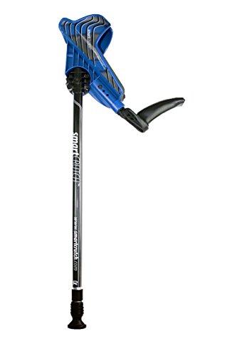 SmartCrutch Krücken Gehhilfen Midi/Petite Unterarmgehstützen Paar komplett einstellbar für Erwachsene ab 148cm blau