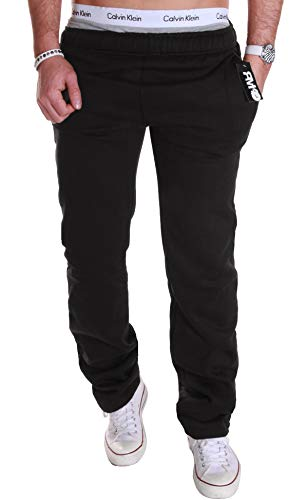 new product fcae0 a14d0 RMK Herren Hose Jogginghose Trainingshose Fitnesshose Sweatpants (XL  Schwarz H.01)