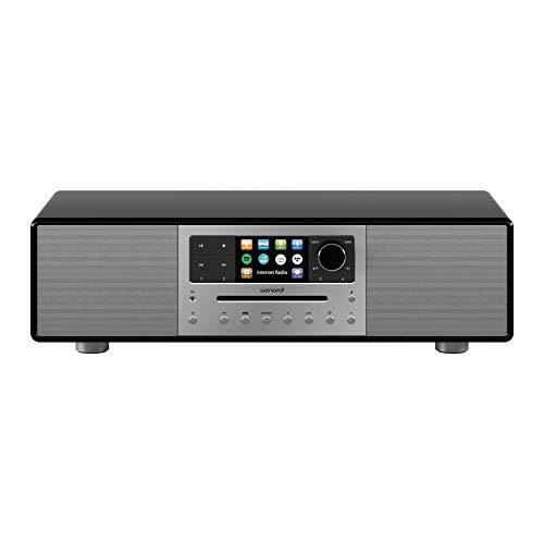 sonoro MEISTERSTÜCK Kompaktanlage Streaming+ (FM/DAB+, CD, AUX, Bluetooth, Spotify, Amazon Music, Napster, Qobuz, Tidal, Deezer) Schwarz/Space Grau