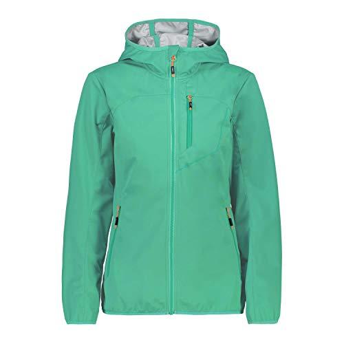 CMP Damen Softshelljacke Woman Jacket Fix Hood 39A5256 Aquamint 42