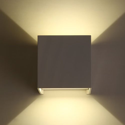 Etime LED Wandleuchte außen Wandaussenleuchte 7W Wandlampe IP65 LED energiesparend Warmweiss(Weiß 7W)