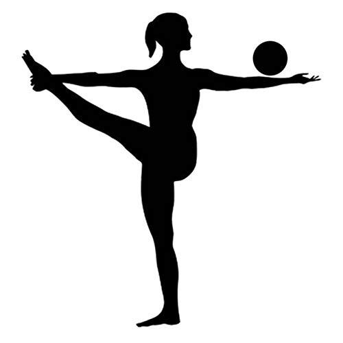 CTHK Autoaufkleber 14 cm * 14,7 cm Mode Gymnastik Yoga Haltung Fitness Sport Silhouette Vinyl Auto Aufkleber (Auto-aufkleber Haltung)