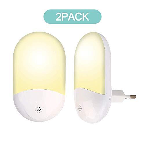 Nachtlicht Steckdose,LED Nachtlicht Baby mit Bewegungsmelder und Dämmerungssensor Steckdosenlicht für Kinderzimmer, Schlafzimmer, Badezimmer, Gang [2 Stück] (clear1)