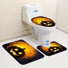 Worlddream 3 stücke Bad Nicht-Slip Sockel Teppich Deckel Wc Abdeckung Bad Matte Halloween Wc Sitz Abdeckung Set