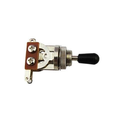 Musiclily Metric 3 Way Courts Raides sélecteur Guitar Pickup bouton interrupteur à bascule pour guitare Gibson Epiphone LP Les Paul électrique Pièces (pointe noire)