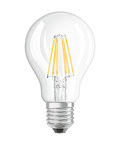 OSRAM LED BASE CLASSIC A / LED lamp filament style with screw base: E27, 7W, 220…240 V, 60W replacement, clear, 2pack