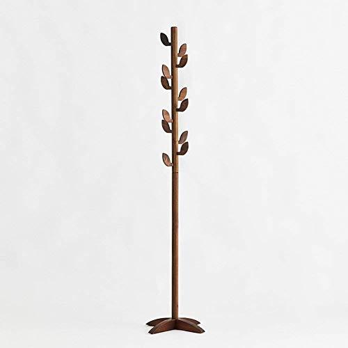 HhGold Baum-Blatt-Kleiderständer stehender Aufhänger Vertikaler Kleiderbügel Kann zusammengebaut Werden Schwarzes Walnuss-Holz 186 & Zeiten; 45 & Zeiten; 45 cm (Farbe : -, Größe : -)