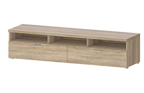 TV-Möbel Napoli Lowboard Fernsehmöbel Eiche Struktur