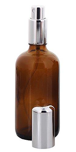 Braunglas Zerstäuberflasche, Sprühflakon, m. Pumpzerstäuber Kosmetex Parfümflakon, leer, 100 ml, 1× 100 ml Braunglas