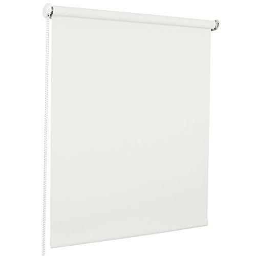 ROLLMAXXX Standard-Rollo Lichtdurchlässig Seitenzug Kettenzugrollo Tageslicht Sichtschutz (120 x 190 cm, Weiß)