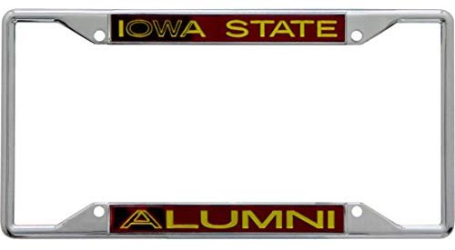Iowa University Alumni (Wincraft Iowa State University Alumni Premium Kennzeichenrahmen, Chrom)
