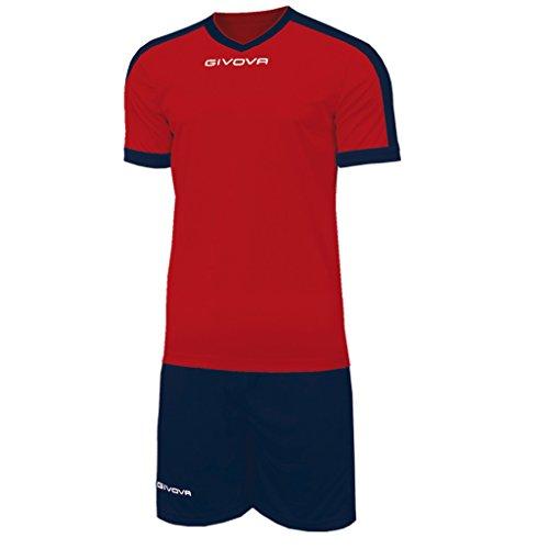 Marchio Givova - modello kit revolution - completino di maglia manica corta e pantaloncino / Home Shop Italia ROSSO/BLU