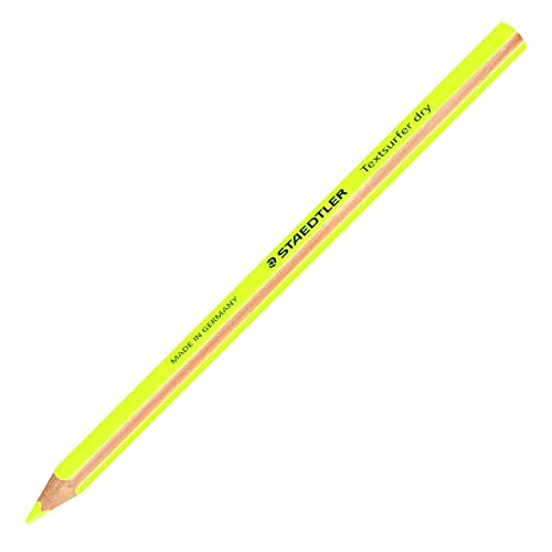 Staedtler Textsurfer dry 1Stück (S)-Bleistift (gelb, 8mm, 4mm, 1Stück (S))