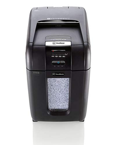 GBC AUTO+ 300M Auto Feed Paper/Credit Card Micro Cut Shredder with Automatic Feed, 300 Sheet Capacity and 40L Bin