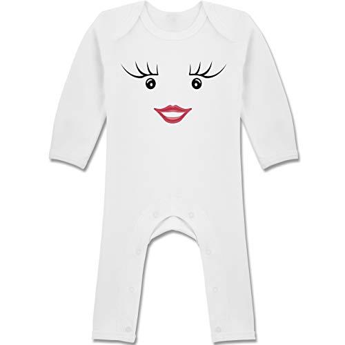 Shirtracer Karneval und Fasching Baby - Partner-Kostüm Milch und Schokolade Sie - 6-12 Monate - Weiß - BZ13 - Baby-Body Langarm für Jungen und Mädchen