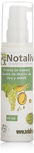 Notaliv Cosmética Natural Crema de manos aceite de semilla de uva – 60 ml