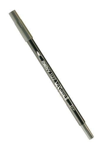 Uchida 1122-C-21 Marvy Extra Fine Tip Le Plume II Double Ender Marker Pen, Dark Grey by UCHIDA