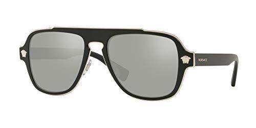 Ray-Ban Herren 0VE2199 Sonnenbrille, Rot (Matte Black), 55.0