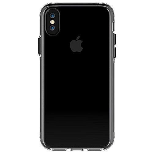 iPhone X Coque, Voguecase TPU + PC 2-EN-1 avec Absorption de Choc, Etui Silicone Souple, Légère / Ajustement Parfait Coque Shell Housse Cover pour Apple iPhone X (Transparent)+ Gratuit stylet l'écran  Transparent