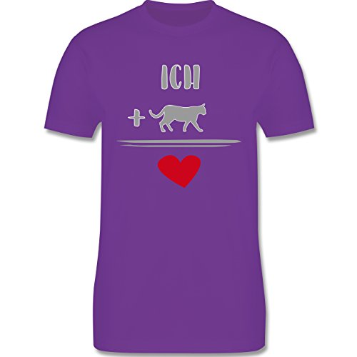 Statement Shirts - Katzen-Liebe - Herren Premium T-Shirt Lila