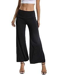 FITTOO Pantalones Sueltos Yoga Cintura Alta Mujer Pantalones Largos  Deportivos Suaves y Cómodos750 a6943a66331