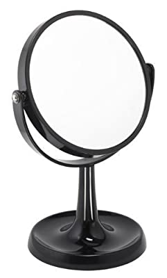 3x Magnification Black Acrylic Mirror produced by Famego - quick delivery from UK.