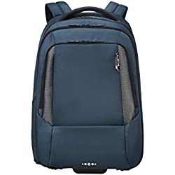 "SAMSONITE Cityscape Tech Wheeled Backpack for 17.3"" Laptop Mochila Tipo Casual, 48 cm, 30 Liters, Azul (Space Blue)"