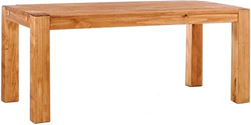 Brasilmöbel Esstisch Rio Kanto 200x100 cm Honig Pinie Massivholz Größe und Farbe wählbar Esszimmertisch Küchentisch Holztisch Echtholz vorgerichtet für Ansteckplatten Tisch ausziehbar