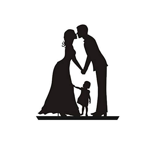 Love Family Kuchen Flagge Topper Elternteil Mit Kind Flaggen Für Hochzeit-Geburtstags-Party Kuchen-Backen-Dekoration Supplies