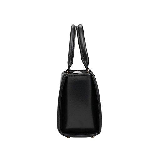 Handtasche Hit Farbe Mode Umhängetasche Damenhandtasche Messenger Bag Beige
