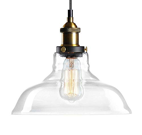 lantu Creative lustre cristal transparente lámpara colgante redondo R