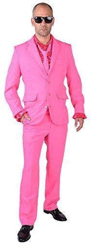 Und Anzug Krawatte Kostüm - M218287-4-L pink Herren Anzug Smoking Sakko Hose und Krawatte Gr.L
