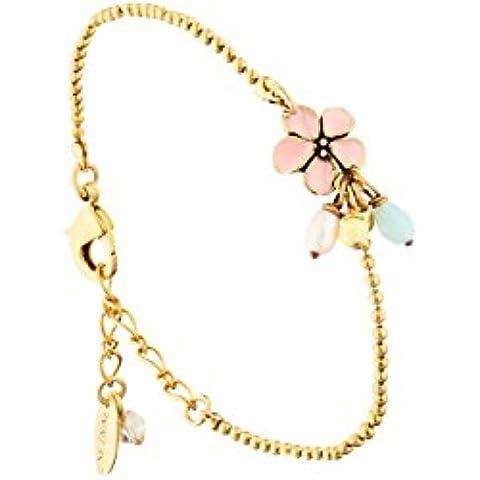Una linea Bracciale catena Camille, doratura oro fine, Rosa