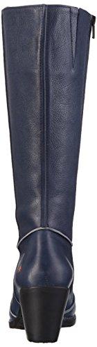 blue Damen Blau Genova Langschaft Art Stiefel wv6fqXdxX
