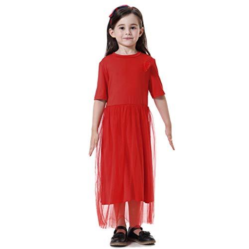 Pingtr - Muslimische Prinzessin Kleid - Baby scherzt moslemische islamische Feste Tulle-Prinzessin Dress ()