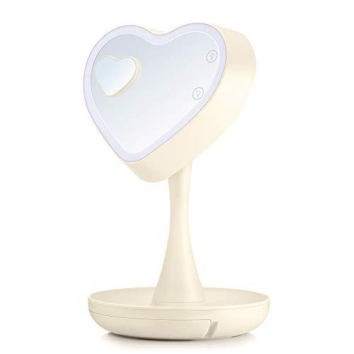 OUSENR Batterie Lightme Led-Make-Up Make-Up-Spiegel-Leuchte Herzform Mit 1X/3X...