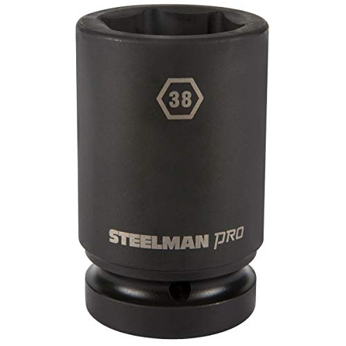 STEELMAN PRO 79294 1-Inch Drive x 38mm 6-Point Deep Impact Socket -
