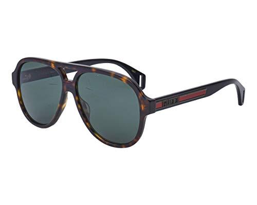 Gucci Sonnenbrillen (GG-0463-S 003) havana dunkel - schwarz glänzend - grau-grün