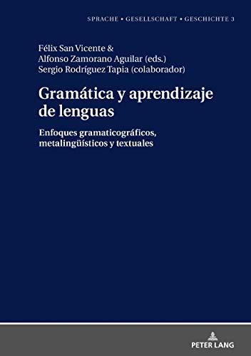 Gramática y aprendizaje de lenguas: Enfoques gramaticográficos, metalingüisticos y textuales (Sprache – Gesellschaft – Geschichte)