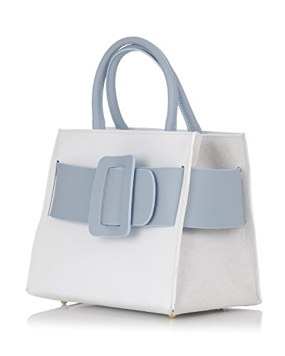 Laura Moretti - Borsa in pelle con cintura White + Heavenly