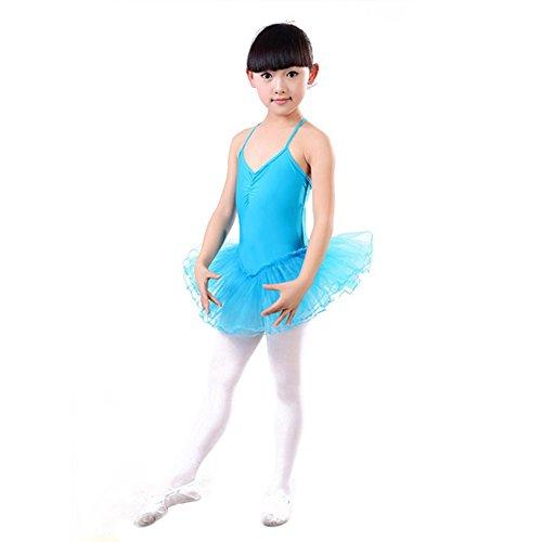 BOBORA Abiti bambino ragazze estate balletto danza Costume Tutu Leotard 3-12 anni