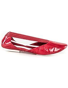 Scarpe donna Y-3 YAMAMOTO ballerine rosse in pelle N.38 2/3 ADIDAS X912