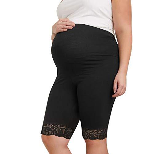 Amphia - Umstandsmode/Capri Umstandshose Relaxed Caprihose - Umstandsleggings Damen Schwangerschaft Hosen Weiche Stretch Umstandsmode Leggings