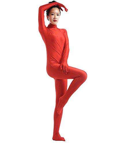 in zkörperanzug Bühnenaufführung Kostüm Rot M (Halloween-kostüm Rot Ideen)