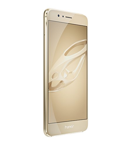 "Honor 8 Premium 4G Smartphone, 5.2 Display "", HiSilicon Kirin 950, 64 GB, 4 GB RAM, Dual 12 MP / 8 MP Camera, Dual Nano SIM, Gold"