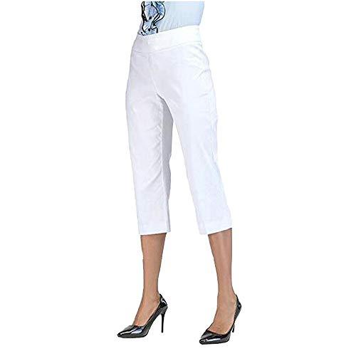 Zarupeng Frauen Straight Leg Röhrenhose Capri Pants Sommer Einfarbig Slim fit Leggings Freizeithose Elegante Business Stoffhose Capri Spandex Jersey