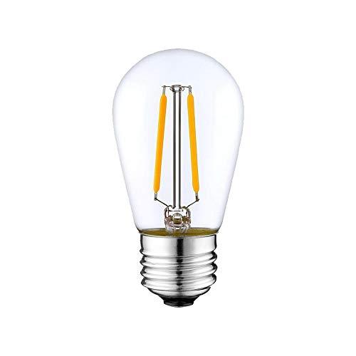 Kingko 15 Stück 48 ft für den Einsatz mit 110V 2W Vintage Edison-Lampen Wasserdichte...