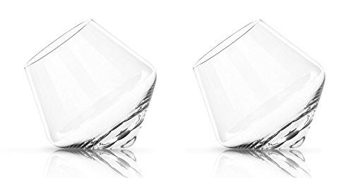 Glassquisite - Design Gläser - 2er Set mit Kreisel-Effekt - 2 x 275ml (1) Cognac Glas