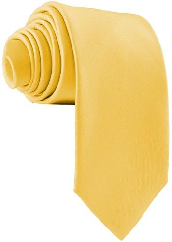 ADAMANT® Gelbe Designer Krawatte breit - TOPQUALITÄT - Moderne uni Krawatten für Business und Alltag - Gelb