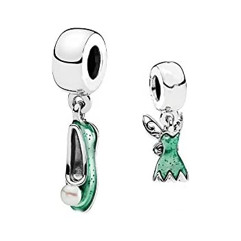 Disney Tinkerbell Shoe Charm Sister Mum Friend gift will fit Pandora and Biagi charm bracelets bmp